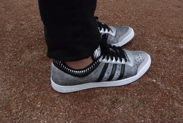Adidas silver sneakers