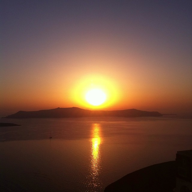 Sunset Fira Santorini