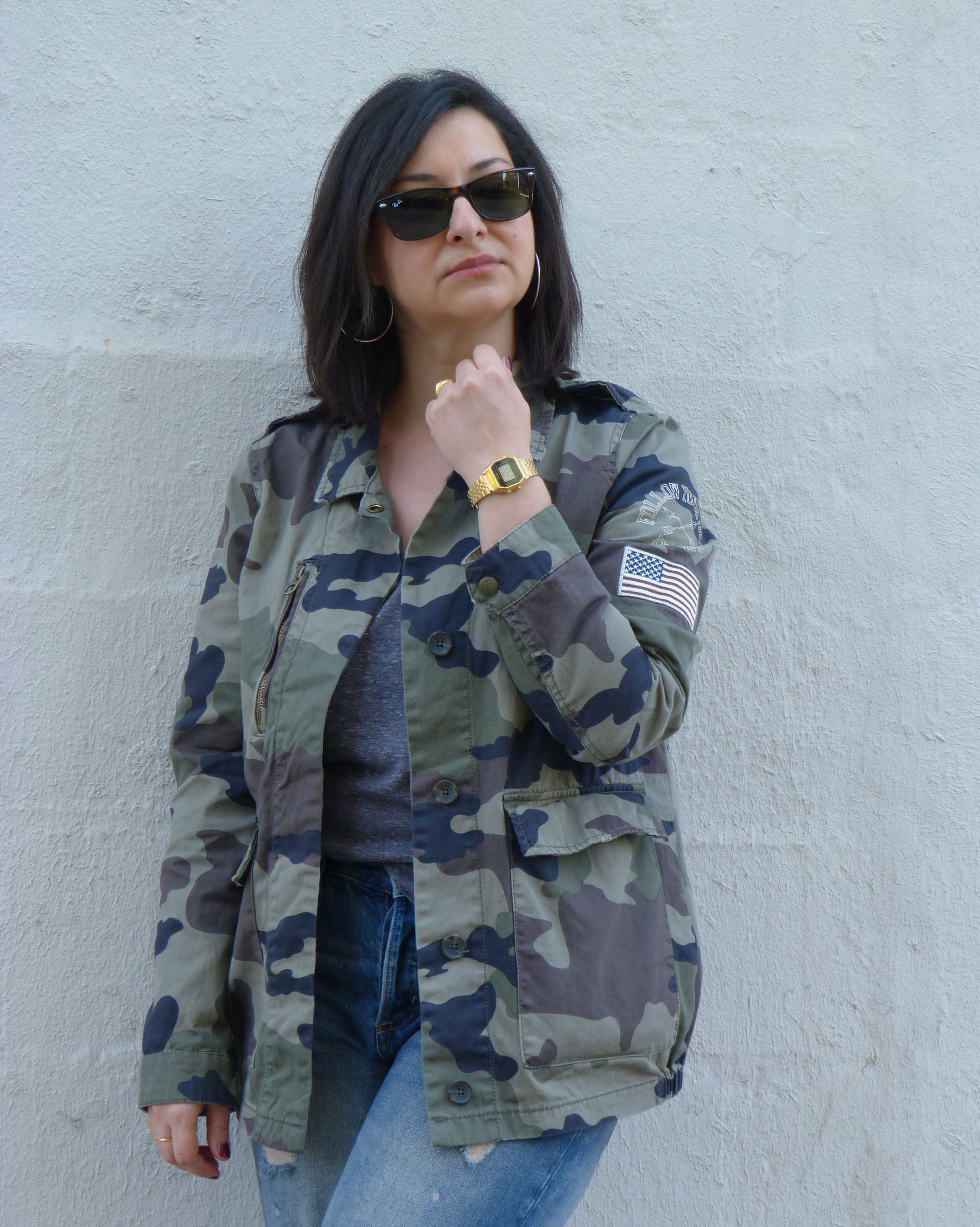 Army jacket pull&bear - portrait