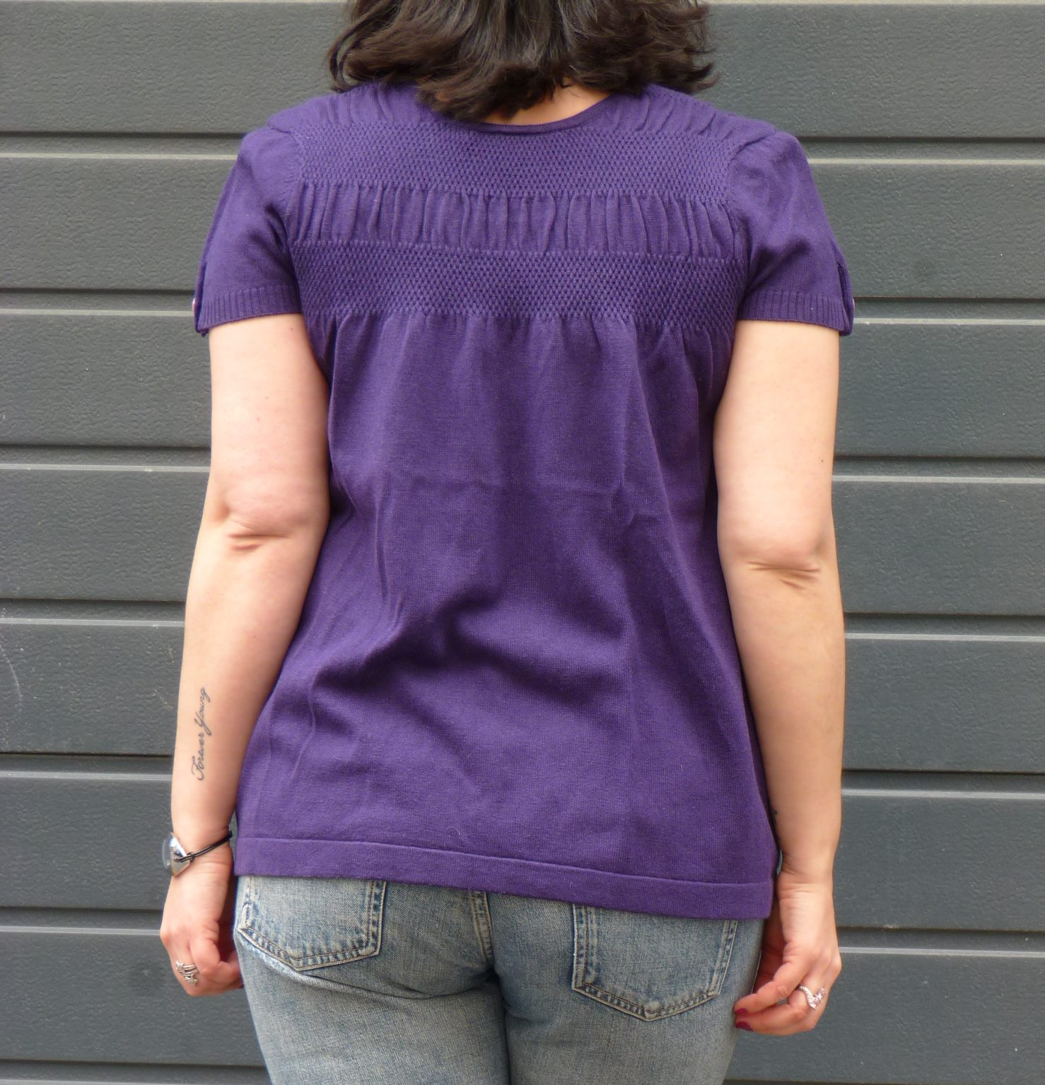 Pull Bel Air violet - zoom