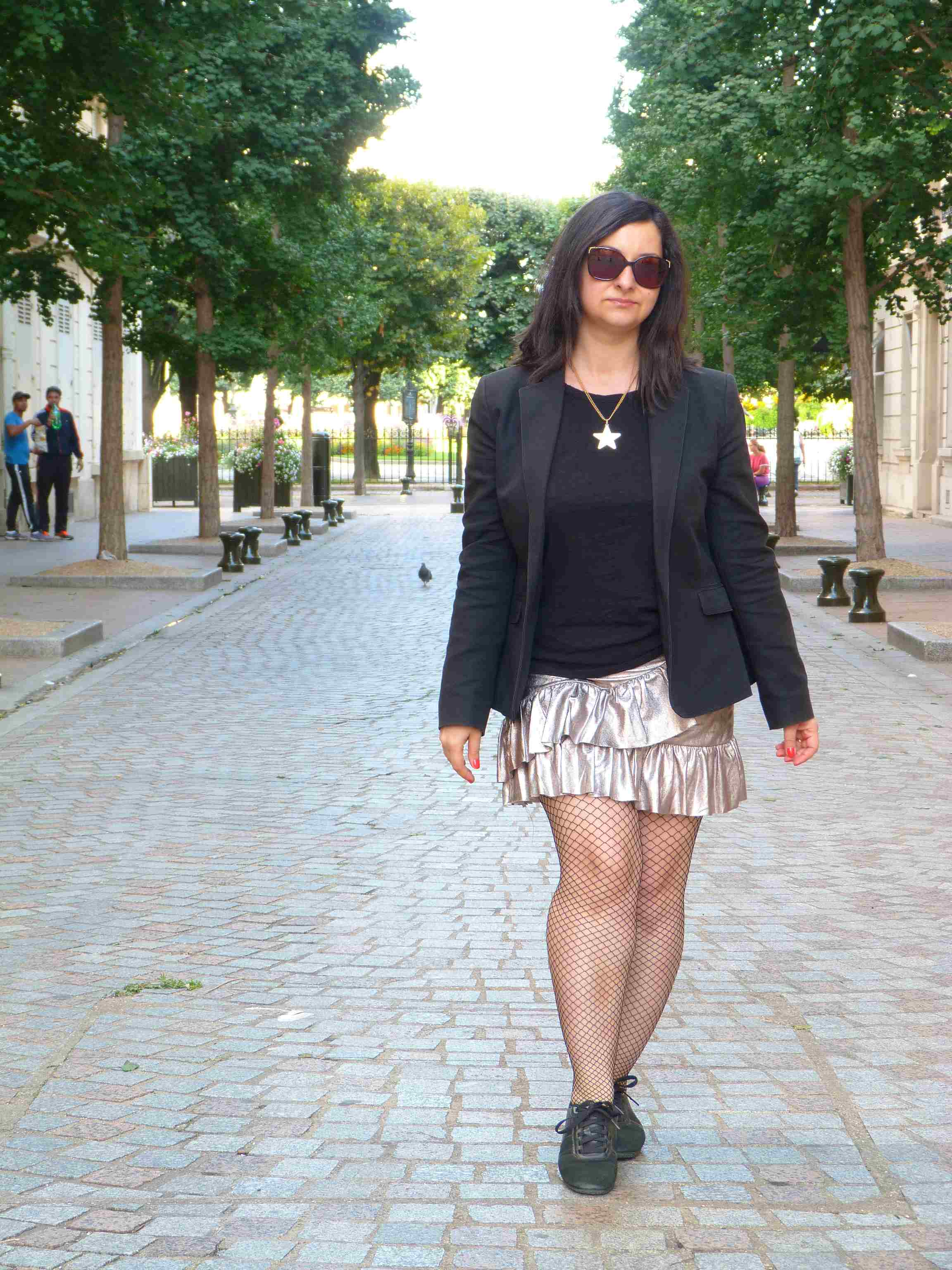Metallic skirt - Pull & Bear (10)