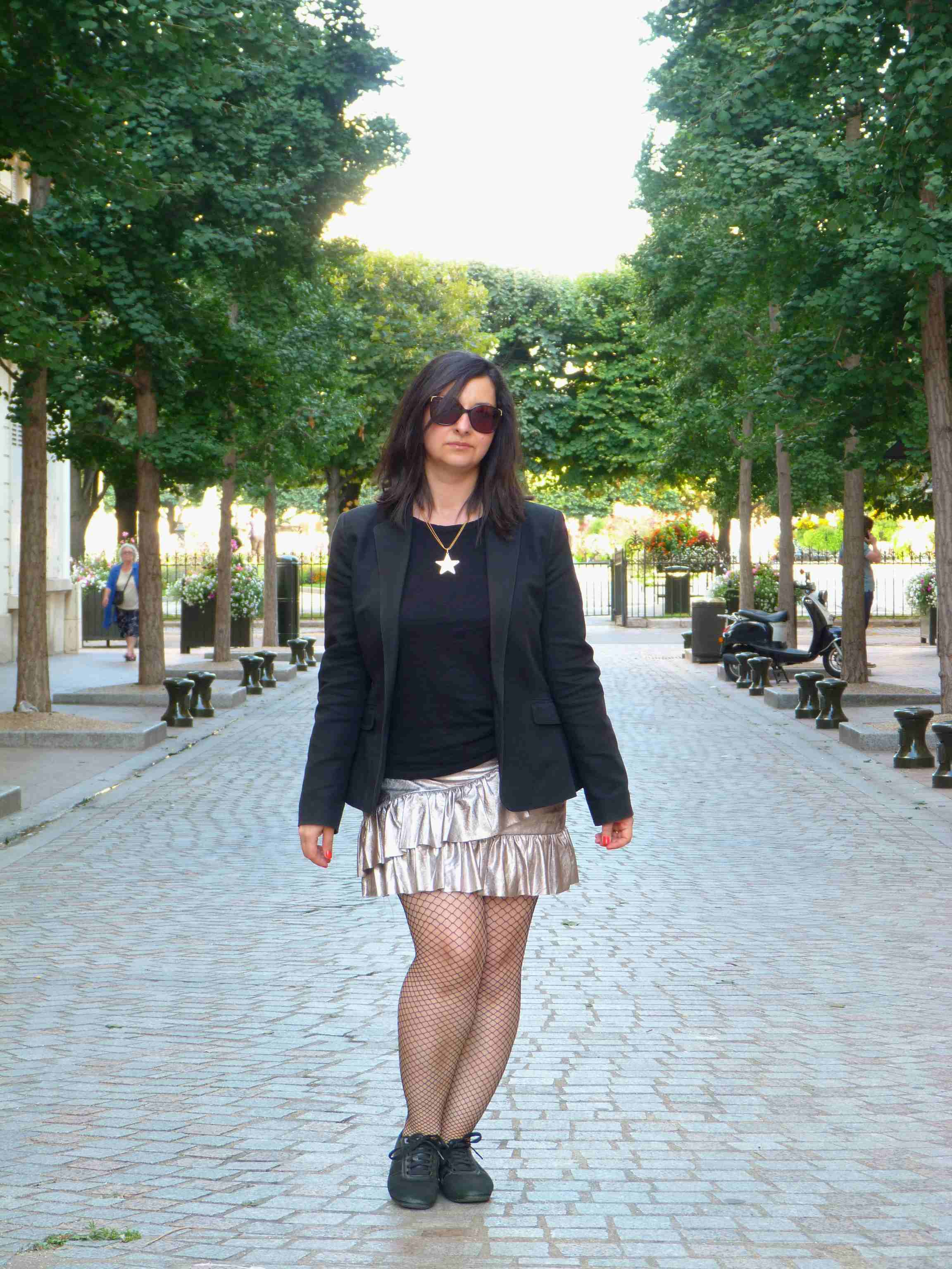 Metallic skirt - Pull & Bear (11B)