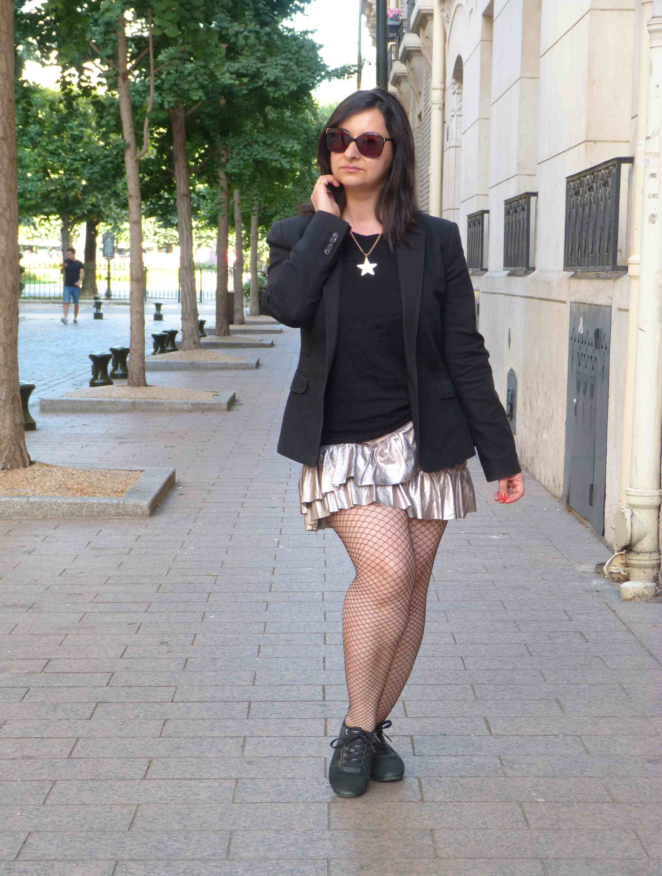 Metallic skirt - Pull & Bear (12)