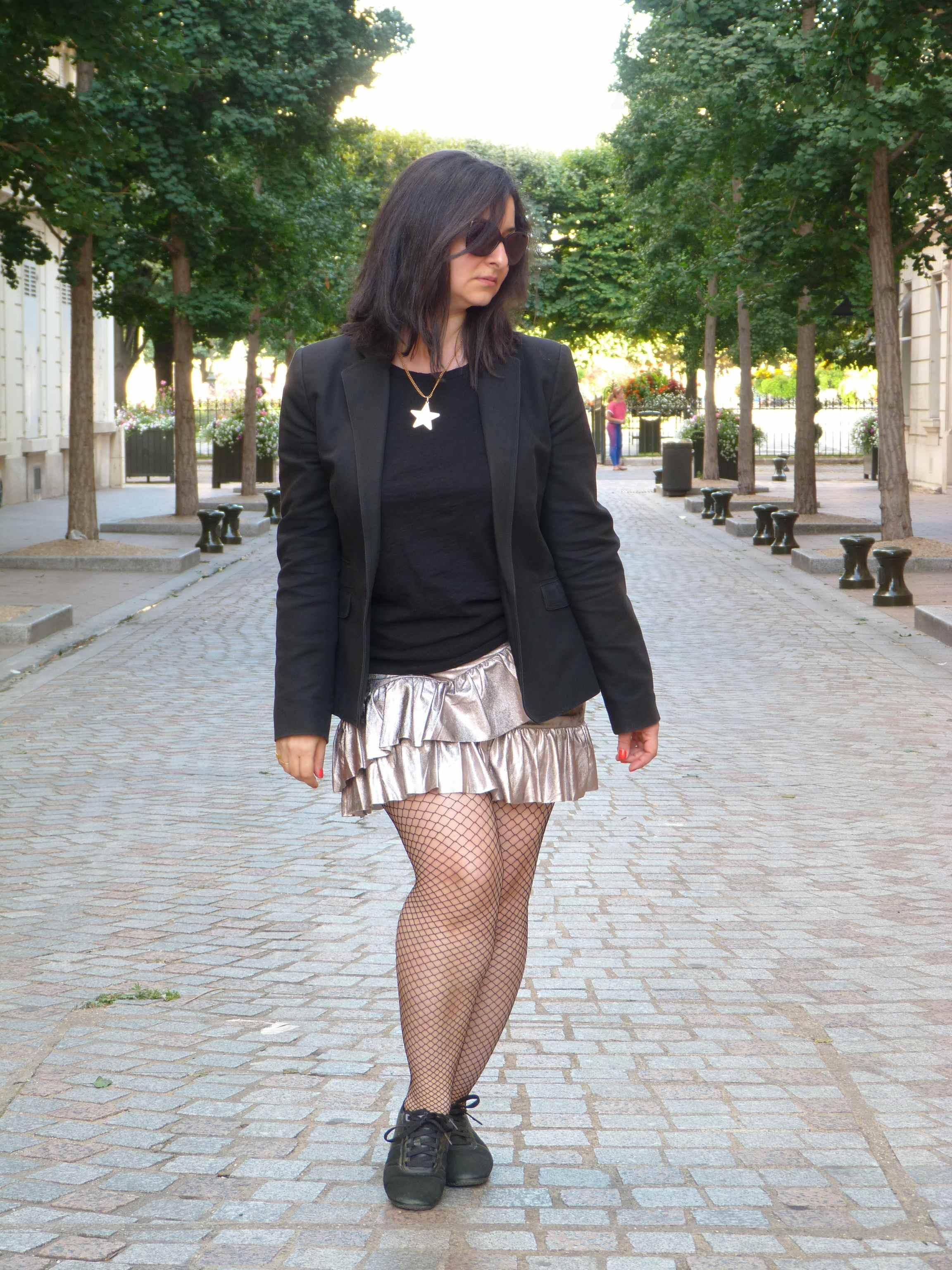 Metallic skirt - Pull & Bear (2)