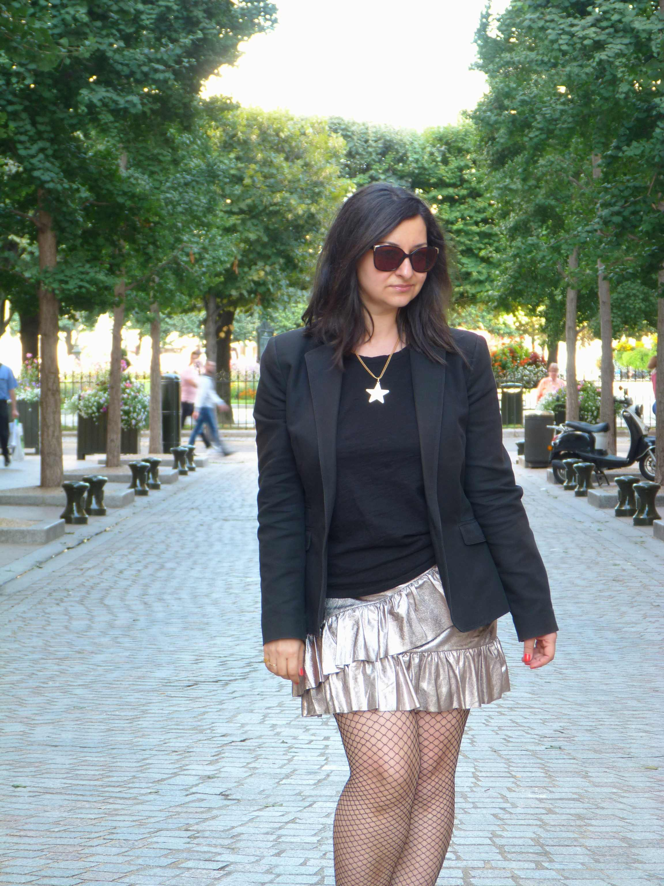 Metallic skirt - Pull & Bear (3)