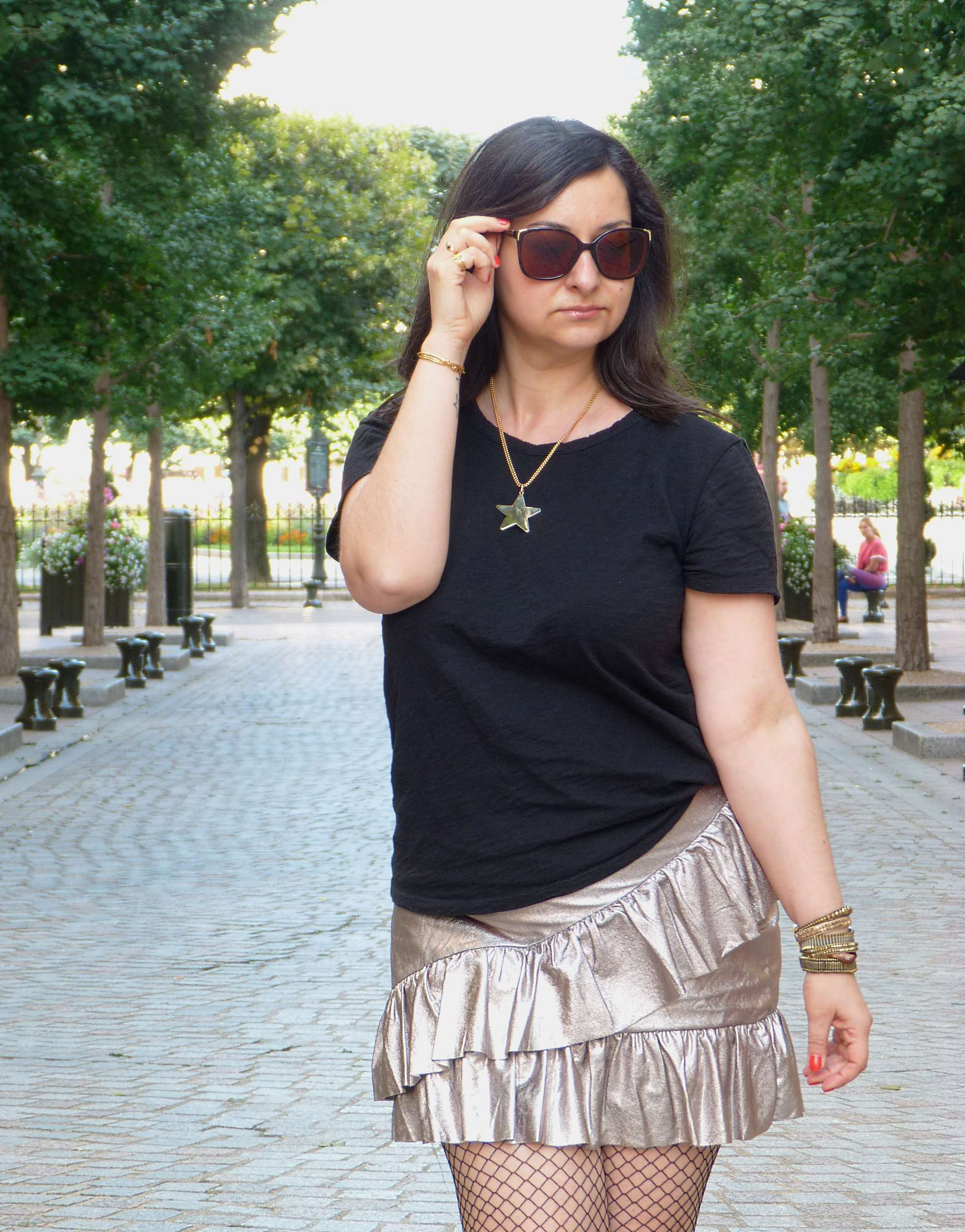 Metallic skirt - Pull & Bear (4)