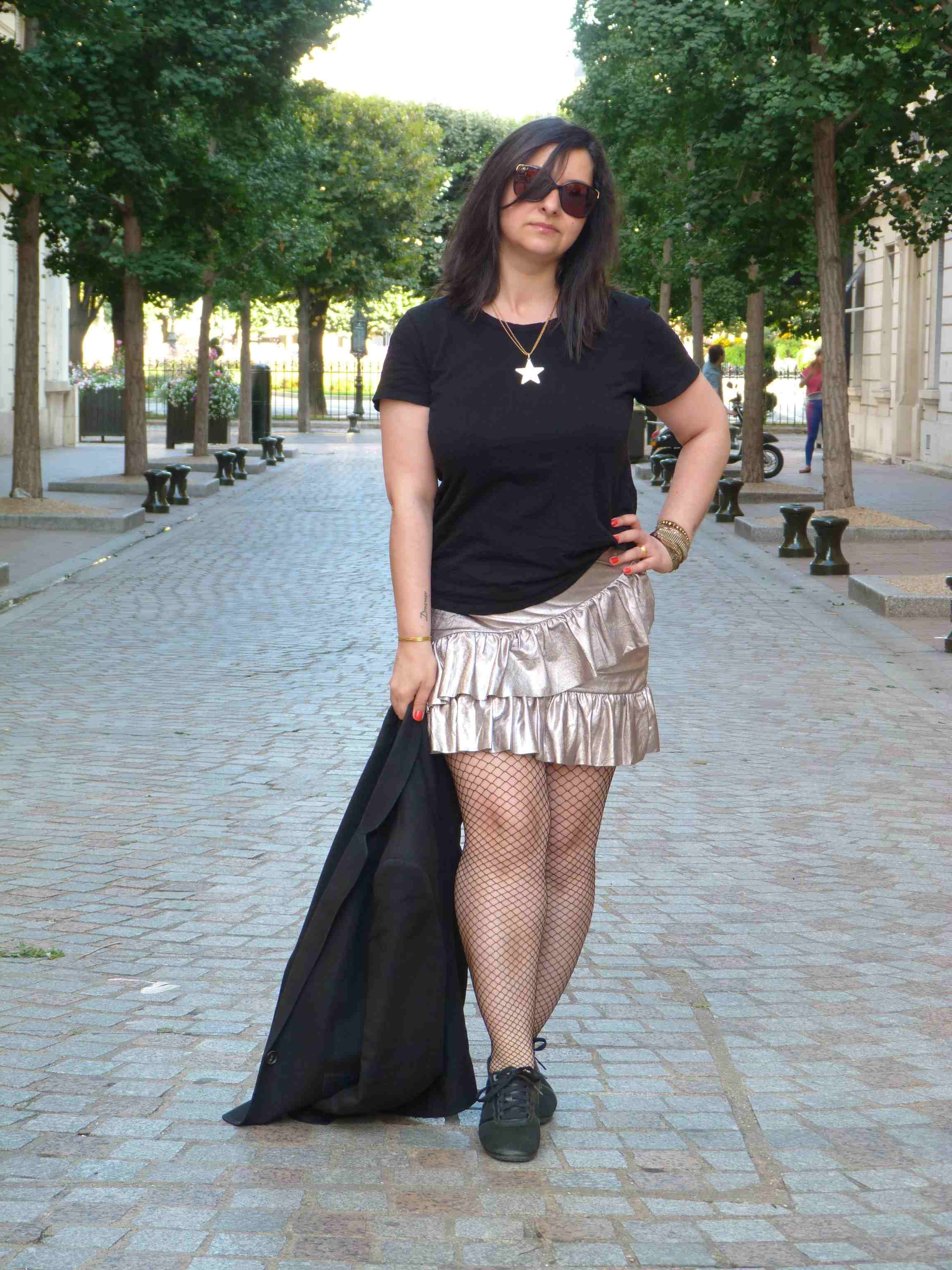Metallic skirt - Pull & Bear (5)