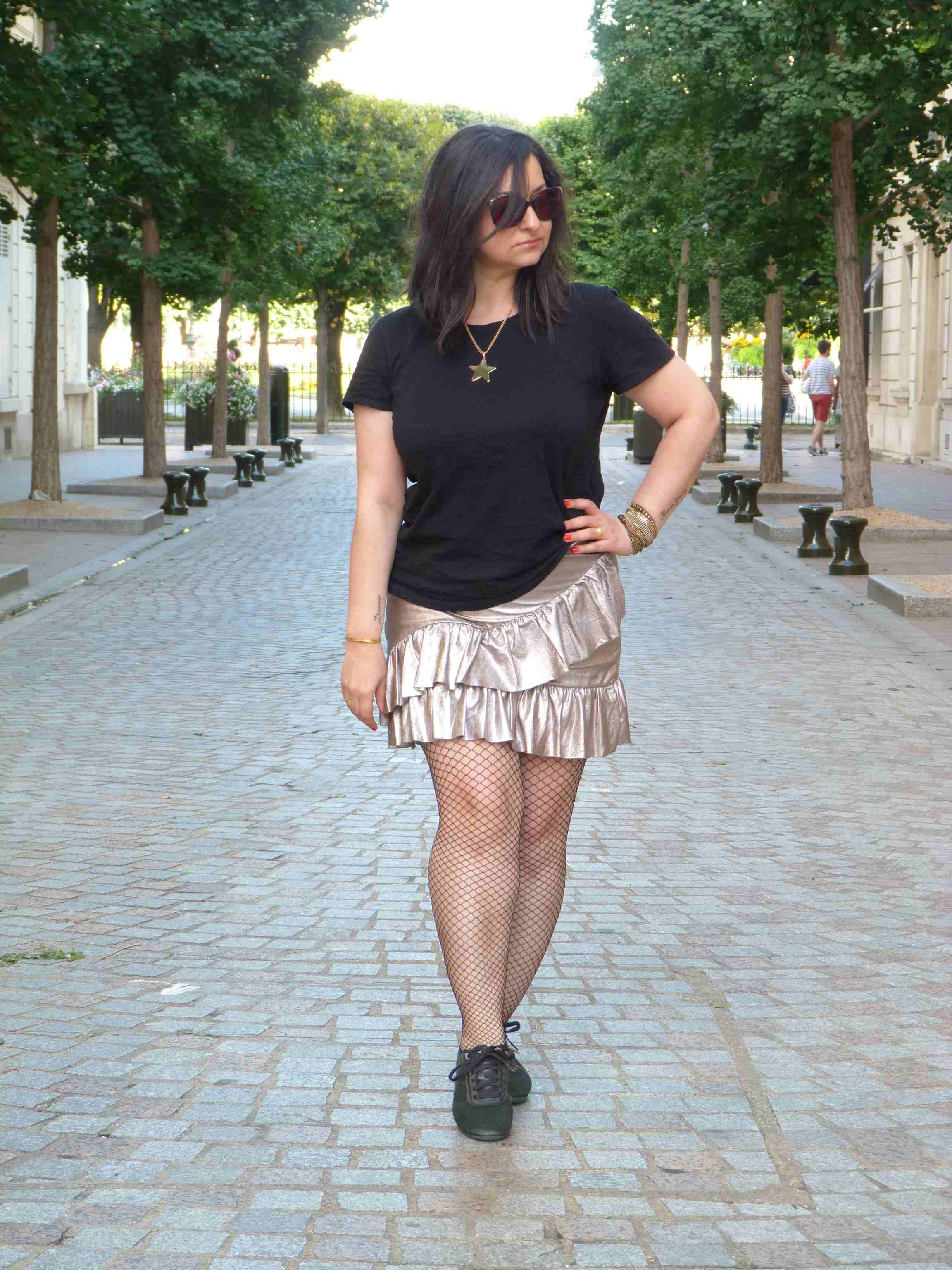 Metallic skirt - Pull & Bear (7)