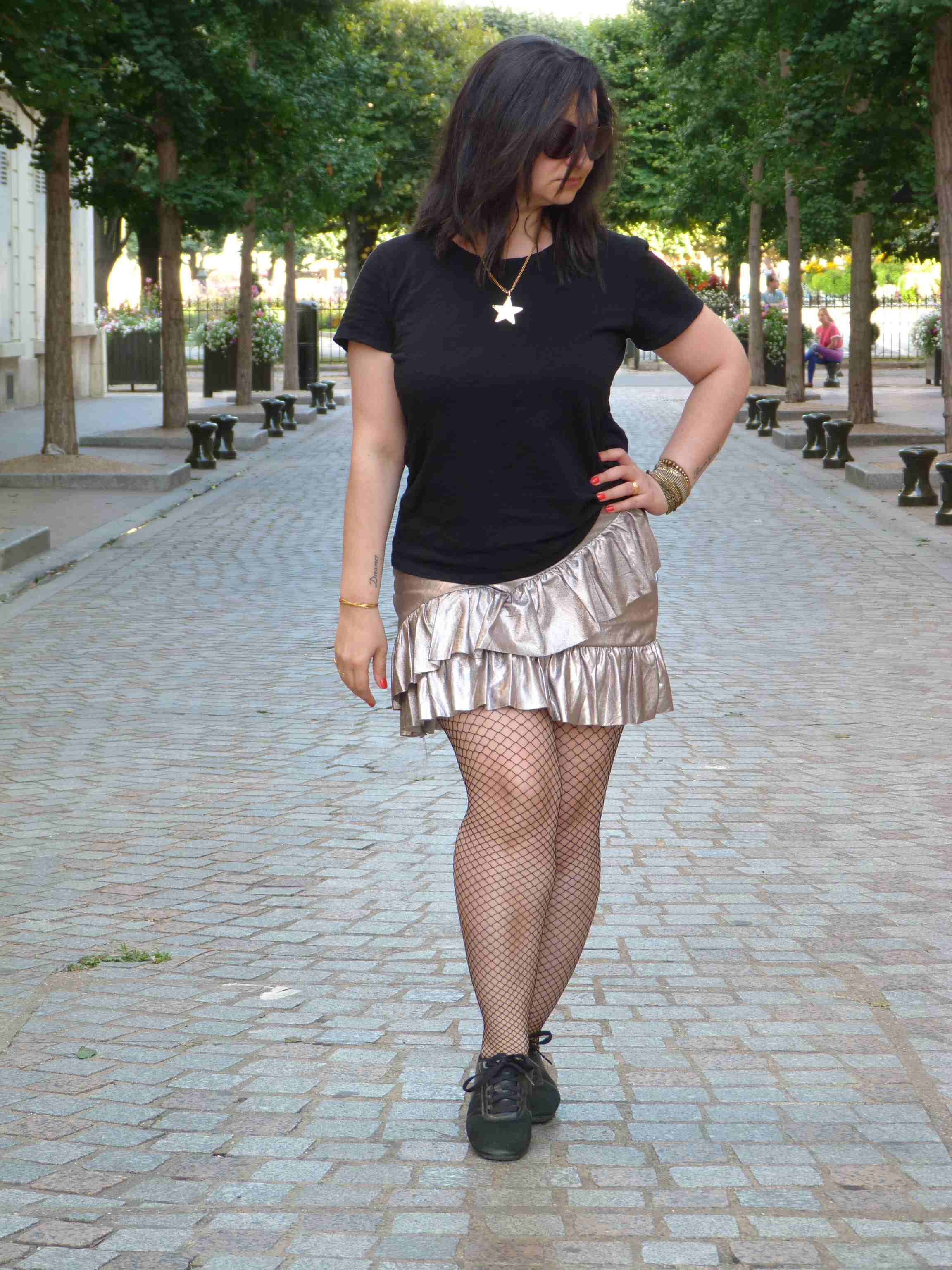 Metallic skirt - Pull & Bear (8)