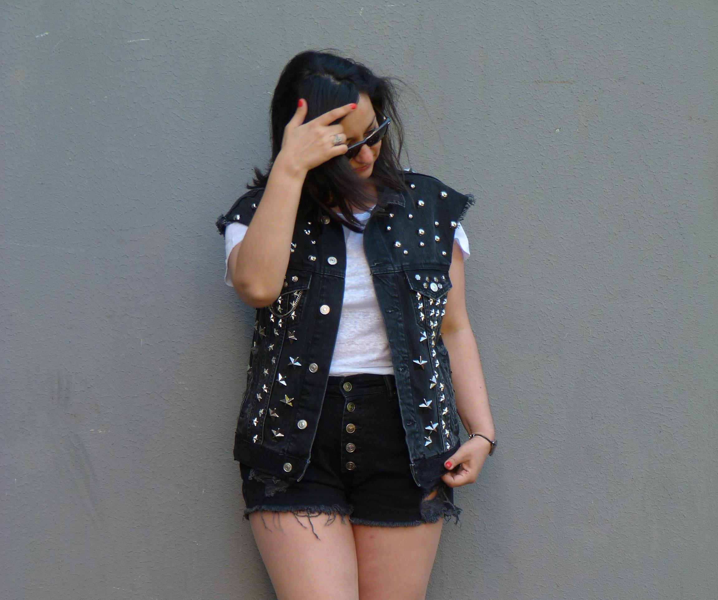 Studded jacket Zara (f)