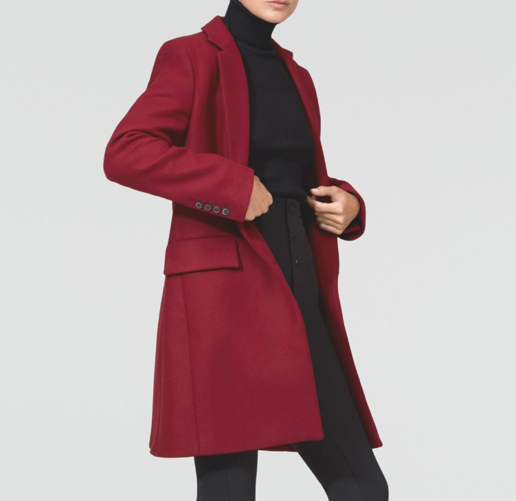 Manteau bordeaux Zara