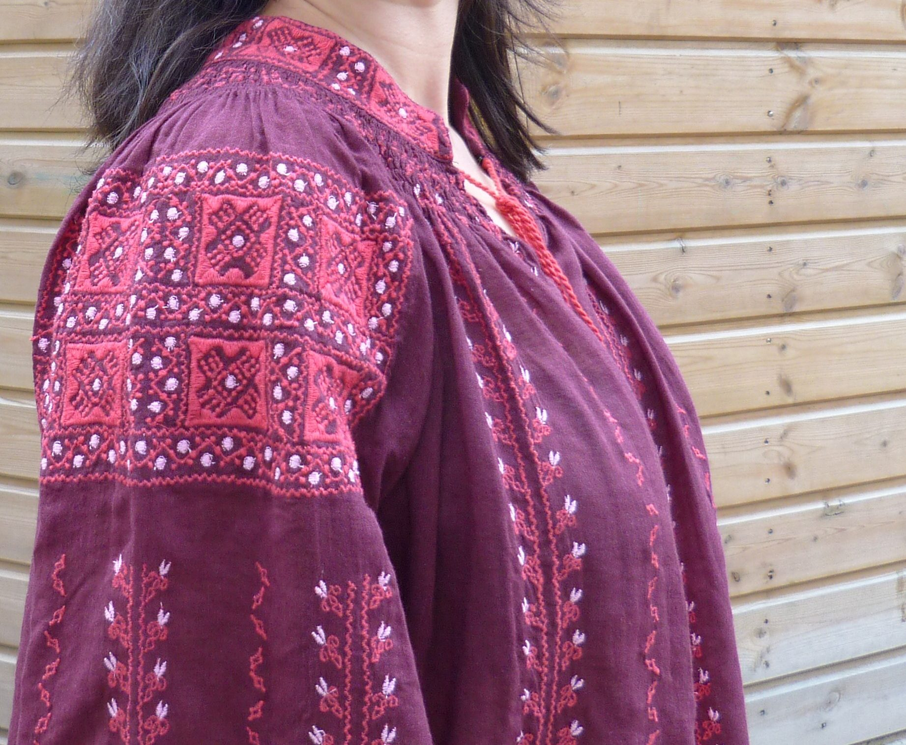 Blouse Antik Batik burgundy