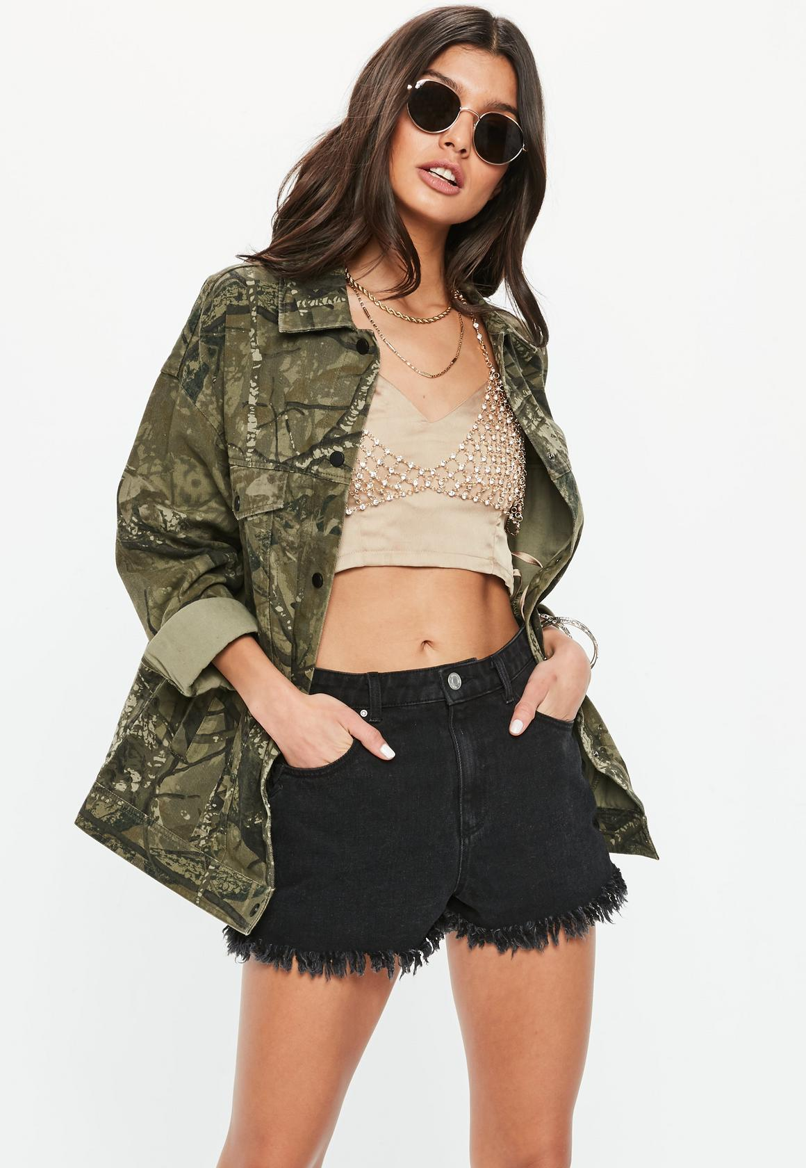 Missguided veste camouflage