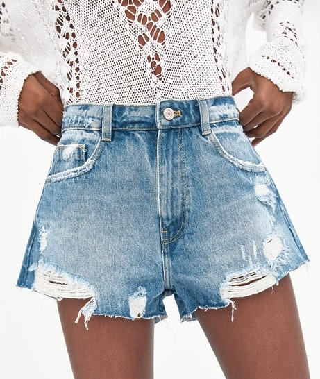 Short denim Zara