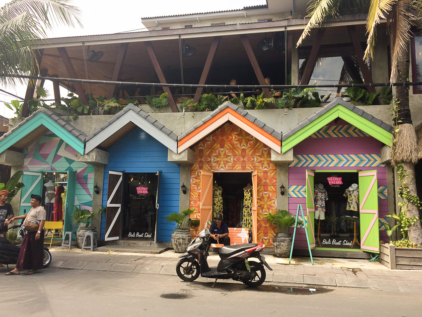 Seminyak colored shops