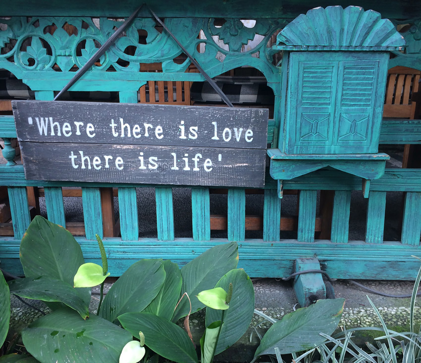Love Quote Ubud