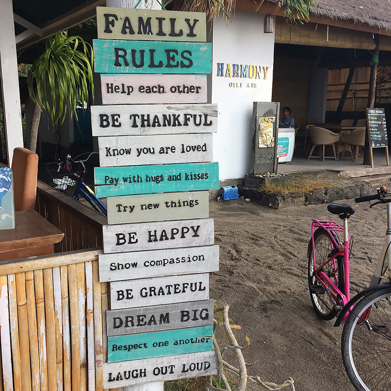 Family Rules Gili Air