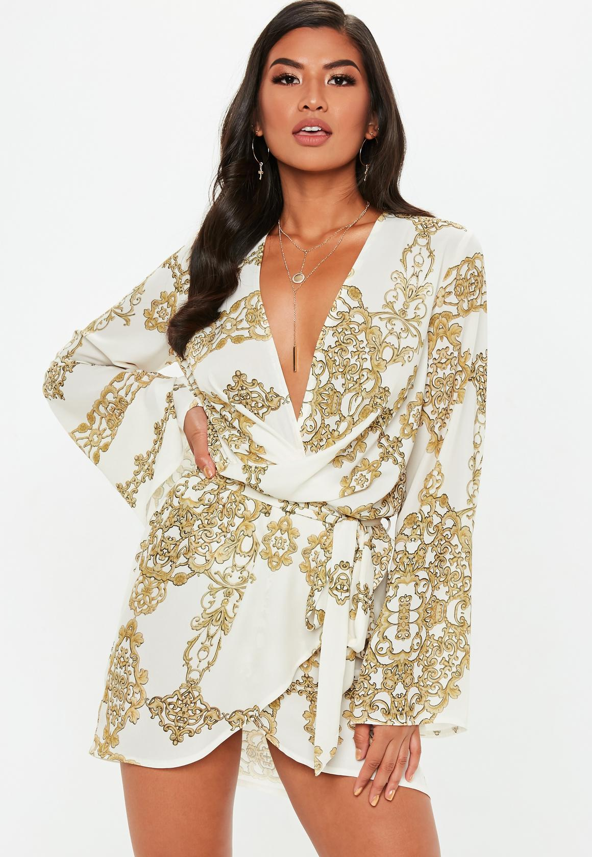 Missguided robe imprimee foulard