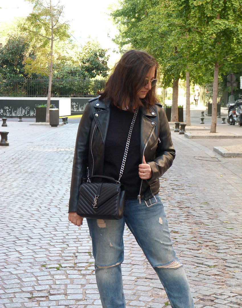 Casual outfit - YSL college monogramme